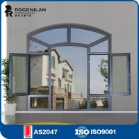 Rogenilan Aluminum Frame Glass Arched Top Door Window
