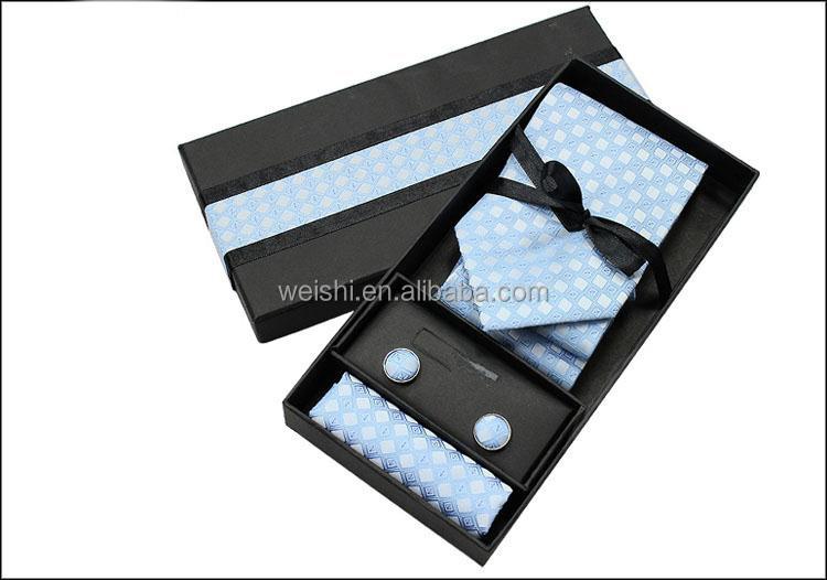 Mens Tie Gift Box With Cufflink Hanky
