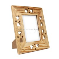 Hand Carved Wooden Single Photo Picture Frame Album Holder ...