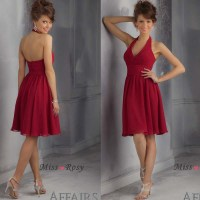 The gallery for --> Dark Red Chiffon Bridesmaid Dresses