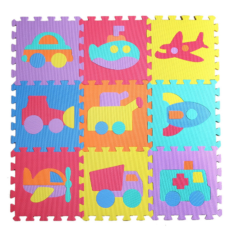 10pcs Cartoon Baby Floor Mat Foam Puzzle Mats Eva Floor