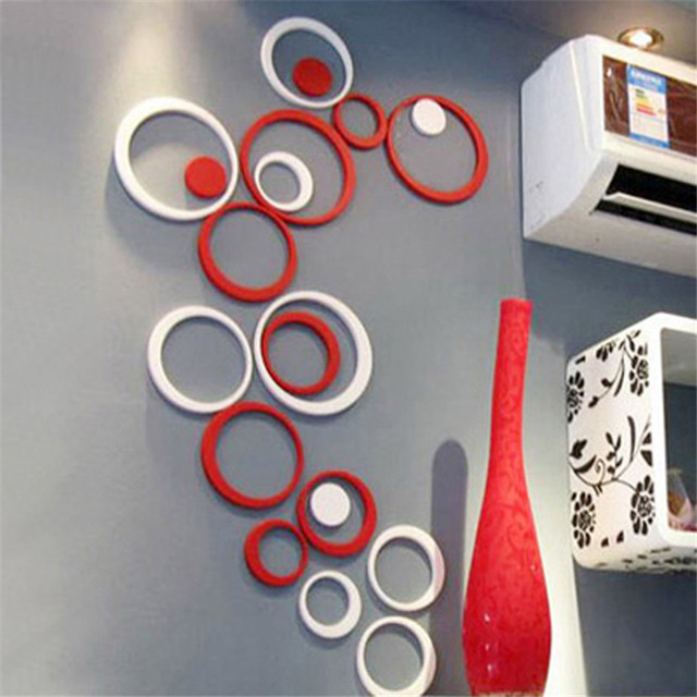 decoration circles stereo removable art wall stickers wall sticker bubble dot circles wall decal pack