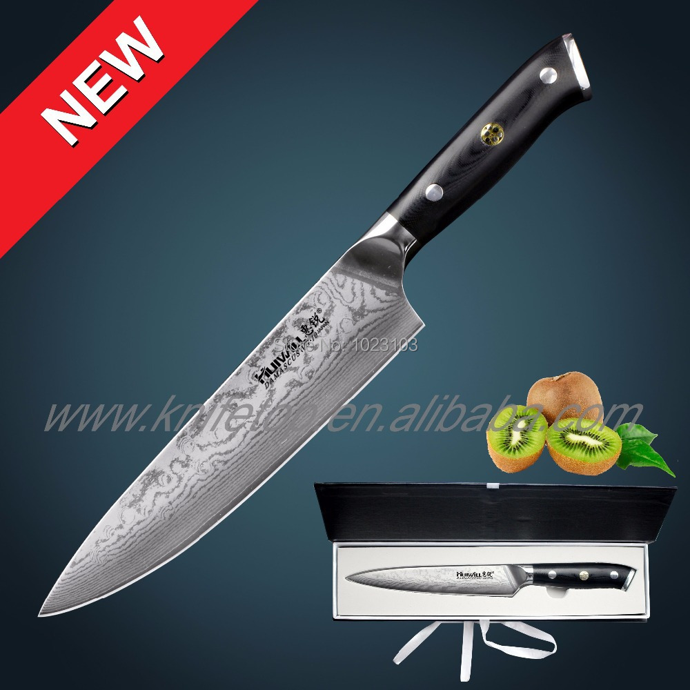 brand vg damascus carbon steel kitchen chef knife cleaver knife home kitchen knives kitchen knives cooking knife carbon steel