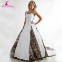 2016 New Camo Wedding Dresses Halter Camouflage Bridal ...