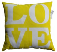 Decorative pillows printed words love pillow cushion cover ...