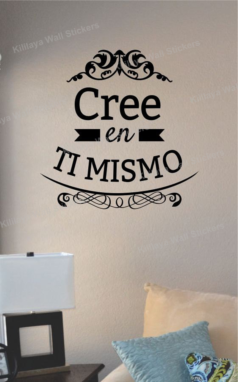 en ti mismo vinyl wall stickers spanish wall decals art home decor vine tree large wall decals stickers appliques home decor