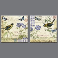 2 piece High quality birds song Canvas art Painting Wall ...