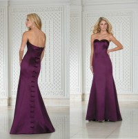 Fashionable Floor Length Full Figure Dark Purple ...