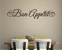Bon Appetite Wall Quote Wall Sticker DIY Bon Appetite ...