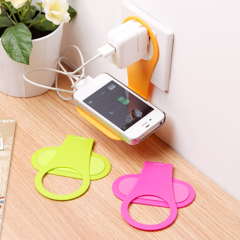 Foldable Wall Charger Adapter Mobile Cell Phone Mp3 Holder