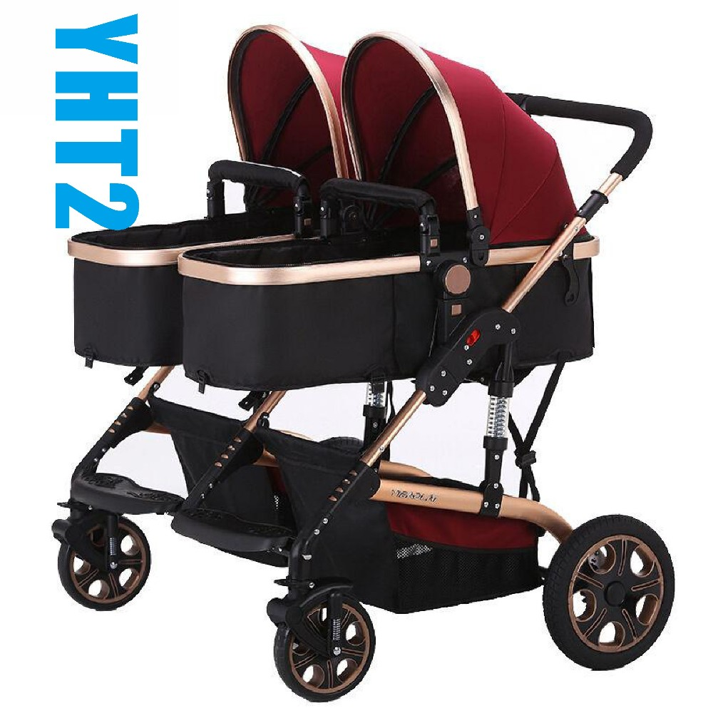 Double Pushchair Bugaboo 2019 Bugaboo Donkey Design Mother Facing Basket Side By Side Twins Double Baby Sitting Sleeping Stroller Foldable Pram Pousette From Jamani3 477 2