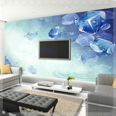 Summer cool wallpaper sofa tv mural bedroom wallpaper 3d wallpaper KITCHEN-in Wallpapers from ...