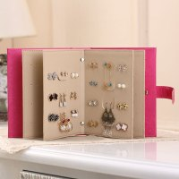 Creative Jewelry Earrings Storage Book Portable PU Leather ...