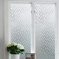 Bathroom Window Privacy Static Cling Frosted Glass Film