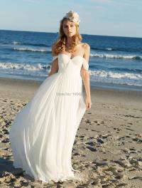 RW013 Sexy Off the Shoulder Chiffon Beach Wedding Dress ...