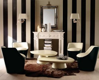 PVC-10M-Roll-Waterproof-wallpaper-Modern-Black-White-Brown-White-Strips-Striped-Wallpaper ...