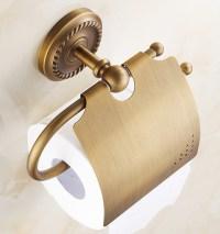 Luxury Brass Paper Box Roll Holder Bathroom Accessories ...