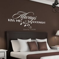 Always Kiss Me Goodnight Loving Art Wall Decal Removable ...