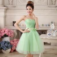 Lime Green Short Bridesmaid Dresses - Junoir Bridesmaid ...