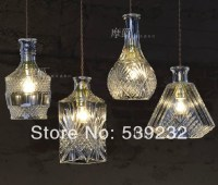 Glass crystal dining room pendant light bar table lamps ...