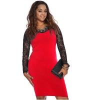 Plus Size Club Dress Long Sleeve - Discount Evening Dresses