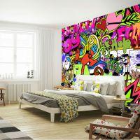 Graffiti Wall Art Bedroom - rabbit shadow graffiti wall ...