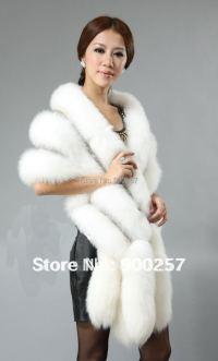 New Arrival Real Fox Fur Shawl Poncho Cape Stole Dress ...