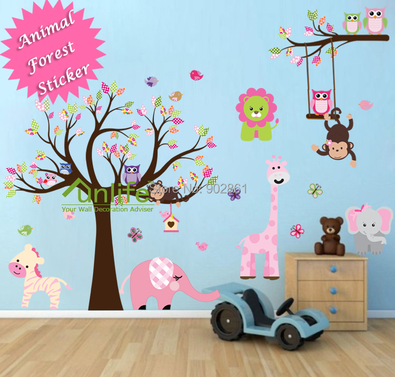 wall border sticker decoration interior home bd owl stuff owl funlife pc direction vinyl young bedroom art mural wall