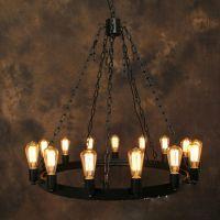 Vintage Chandelier Industrial Edison Lamp American Style ...