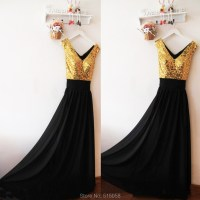 The gallery for --> Black And Gold Bridesmaid Dress