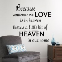 LOVE HEAVEN in our home wall decals quote wall decorations ...