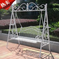 American wrought iron outdoor swing French rocking chair ...