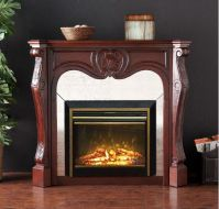 indoor stainless steel electric fireplace insert-in ...