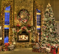 The gallery for --> Christmas Fireplace Backdrops