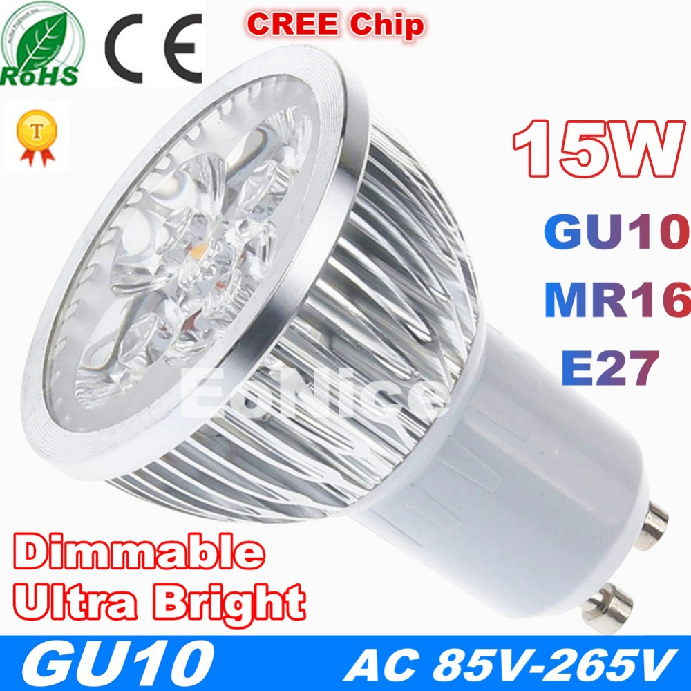 Spot Led High Power 4w Gu10 Led Light Bulb Spot Light Downlight Lamp White Warm White 400lm 40w Incandescent Equivalent Ac85 265v Ac110v
