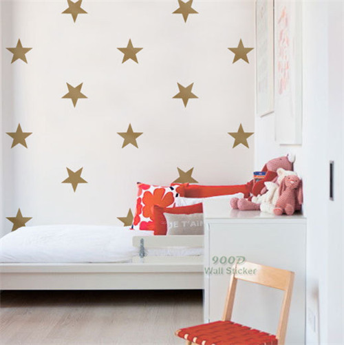 gold star wall sticker removable home decoration art wall decals star shapes wall stickers kids wall stickers