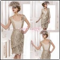 Plus Size Mother Bride Dresses Tea Length