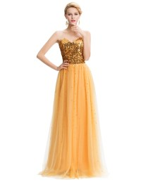 Fast-delivery-Grace-Karin-long-Gold-Sequin-Prom-Dresses ...