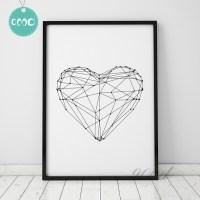 Heart Shape Canvas Art Print  Home Decor
