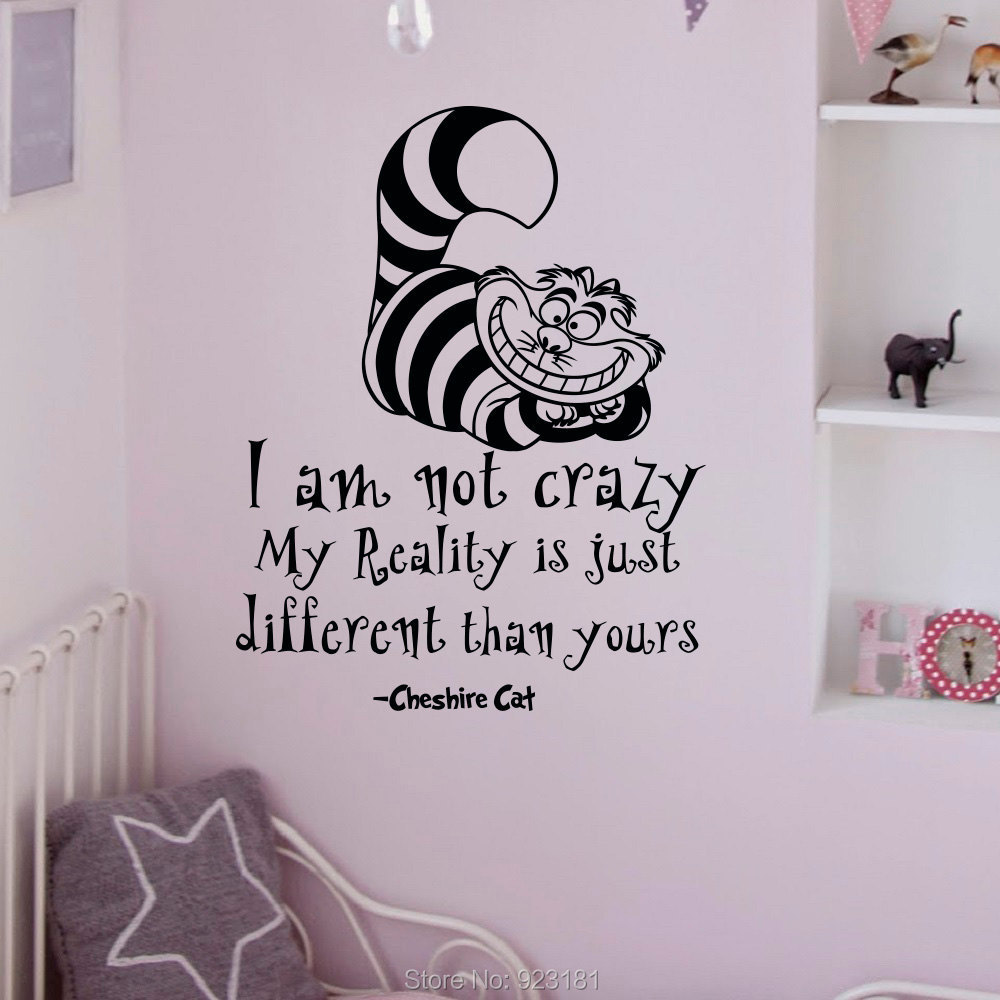 quotes cheshire cat wall art sticker decal home diy decoration wall journey destination quote decal wall stickers transfers ebay