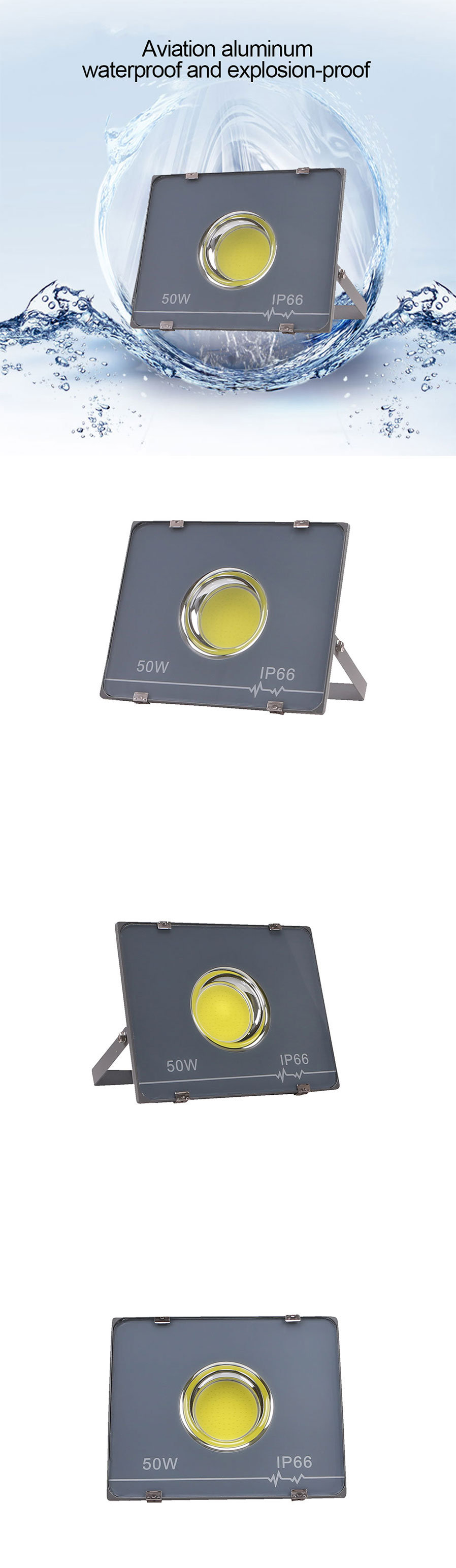 Ultrathin 50w Ac165 265v Led Flood Light Outdoor Waterproof Led Floodlight White Light Free Shipping Dealextreme