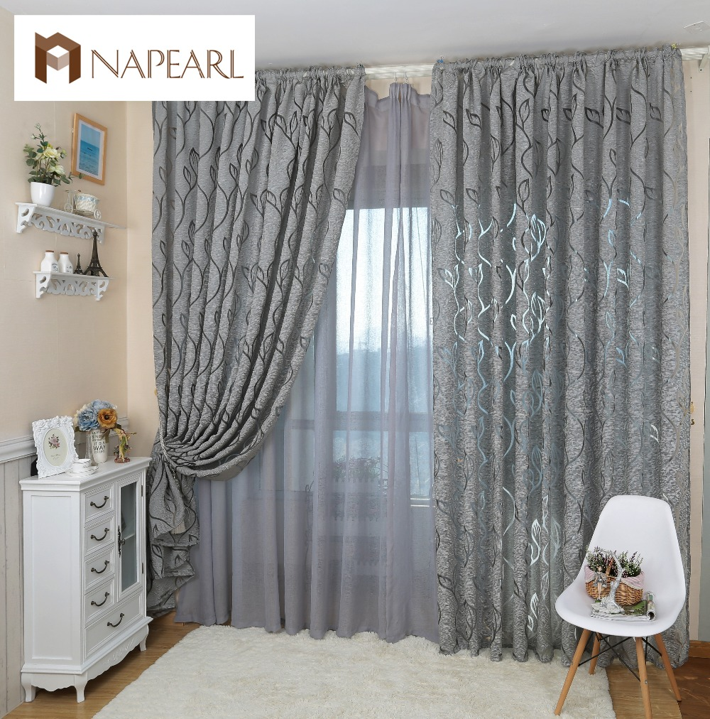 Jacquard Curtains Leaf Style Design Jacquard Curtain Blind For Window Living Room Home Decoration In Curtains From Home Garden On X4uk Veintv Xyz