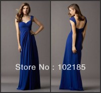 Sapphire Blue Bridesmaid Dress