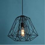 Rustic Cage Pendant Light Fixture