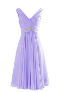 New Lavender Short Chiffon Dress Party Woman Dresses Stock ...