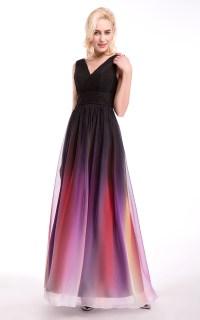2016 Chiffon Purple Gray Blue Bridesmaid Dress In Stock ...