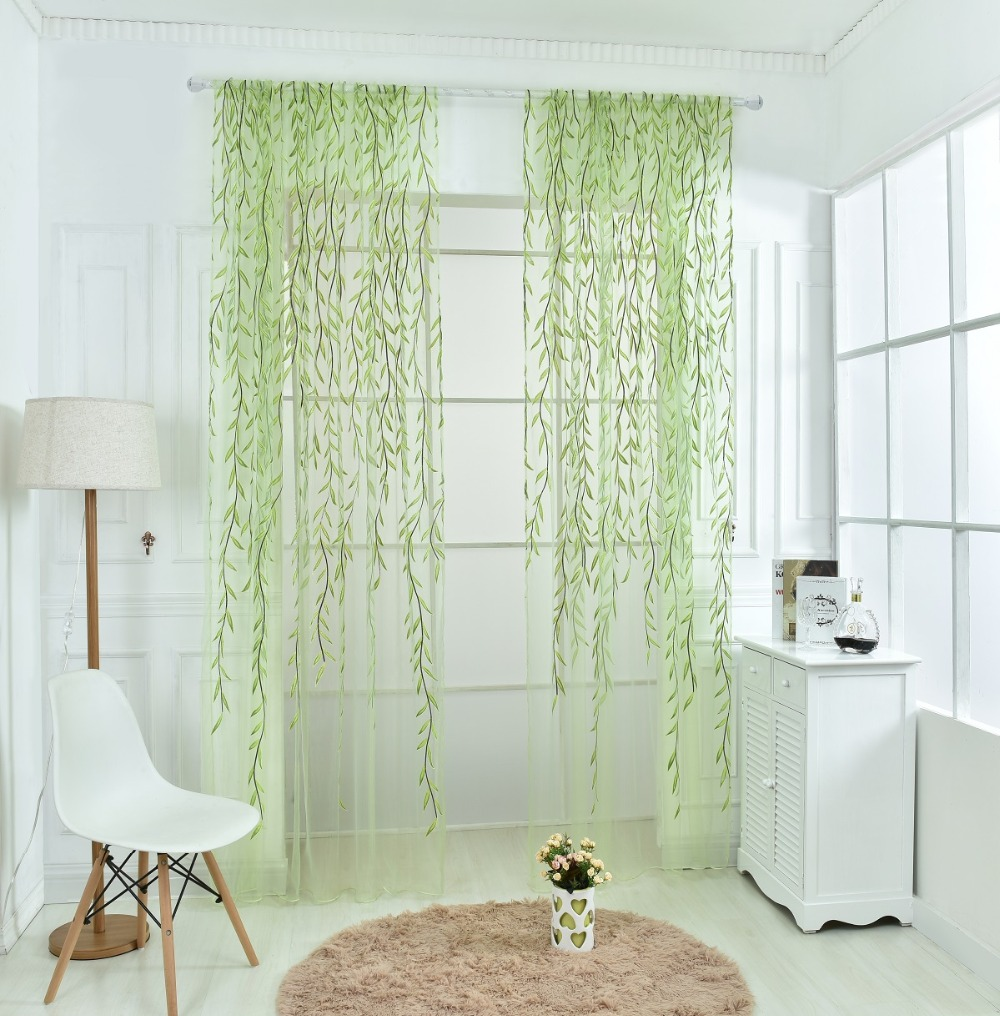 Draping Curtains Wicker Offset Printed Curtain Of Muslin Cool Window Pastoral Floral Curtains For Window Living Room Kitchen Gauze Cortina Sala