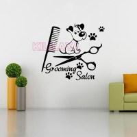 Pet Grooming Salon Vinyl Wall Sticker Dog Mural on the ...