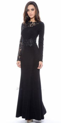 Black Formal Dresses With Sleeves | www.imgkid.com - The ...
