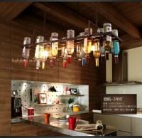 Recycled retro Hanging Wine Bottle Pendant Lamps light ...